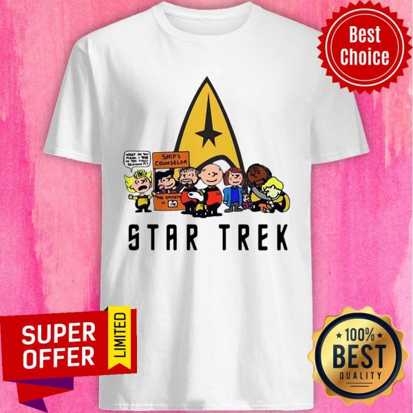Nice Star Trek Ship's Counselor Peanuts Characters Shirt