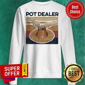 Official Pot Dealer Pottery Vintage Retro Sweatshirt
