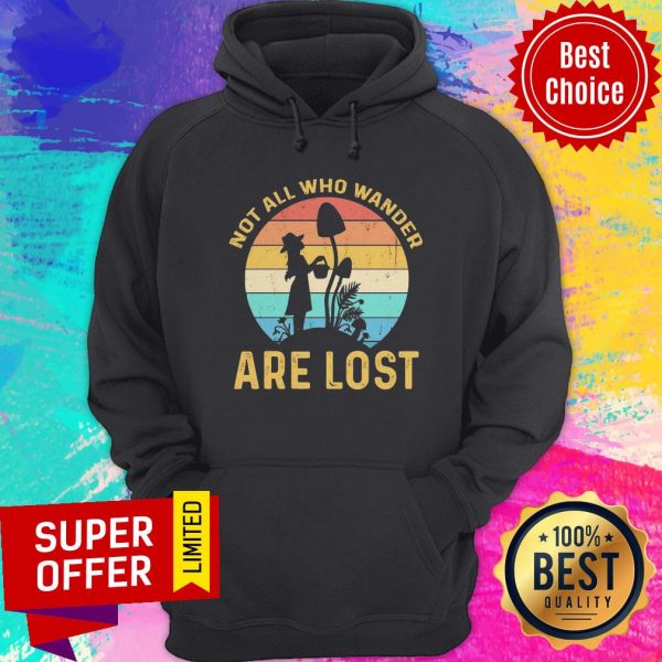 Funny Not All Who Wander Are Lost Vintage Hoodie