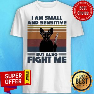 Halloween Michael Myers Black Cat I Am Small And Sensitive But Also Fight Me Vintage Shirt