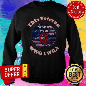 Nice This Veteran Stands With Q America Sweatshirt