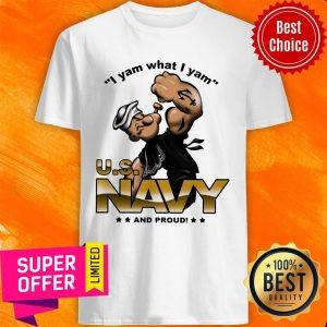 Premium I Yam What I Yam Us Navy And Proud ShirtPremium I Yam What I Yam Us Navy And Proud Shirt