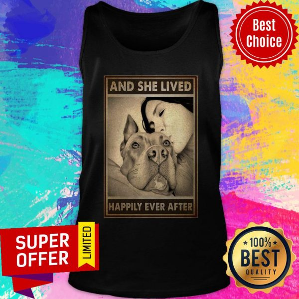 Premium Pitbull And Mom And She Lived Happily Ever After Poster Tank Top