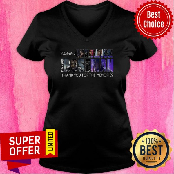 RIP Chadwick Boseman Black Panther 1977 2020 Thank You For The Memories V-neck