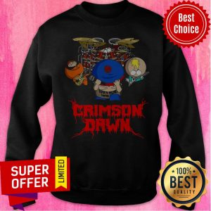 Top 100% Hemp Tegridy Crimson Dawn Sweatshirt