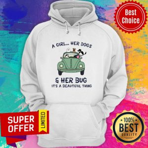 Top A Girl Her Dogs And Her Bug It's A Beautiful Thing Hoodie