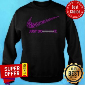 Top Breast Cancer Awareness Nike Just Don't Quit Sweatshirt