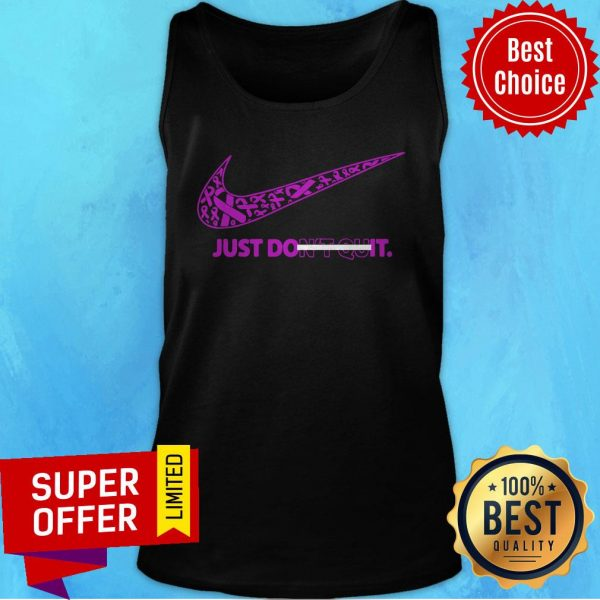 Top Breast Cancer Awareness Nike Just Don't Quit Tank Top
