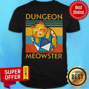 Top Dungeon Meowster Vintage Retro Shirt