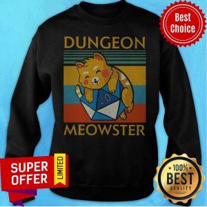 Top Dungeon Meowster Vintage Retro Sweatshirt