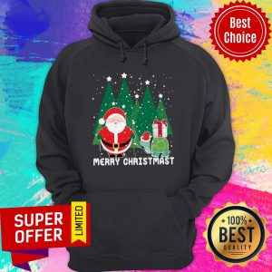 Awesome Santa And Turtles Merry Christmas Hoodie