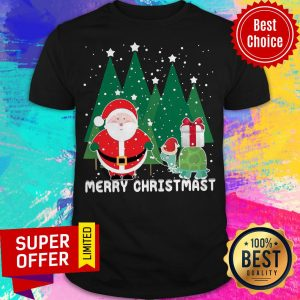 Awesome Santa And Turtles Merry Christmas Shirt