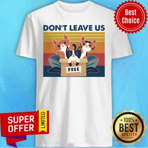 Awesome Three Cats Don't Leave Us Vintage Retro Shirt