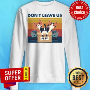 Awesome Three Cats Don't Leave Us Vintage Retro Sweatshirt