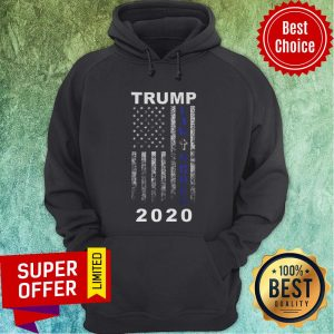 Trump 2020 Law And Order American Flag Vintage Distressed Hoodie
