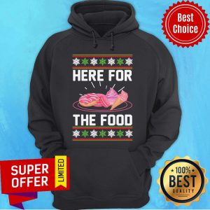 Nice Here For The Food Donut Ice Cream Ugly Christmas Hoodie