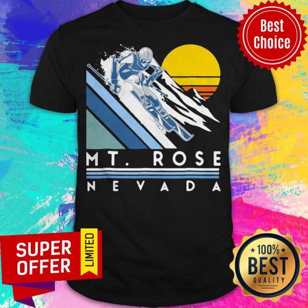 Nice Mt Rose Nevada Retro Ski Shirt