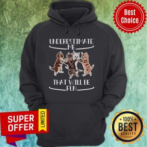 Official Cats Underestimate That Will Be Fun Hoodie