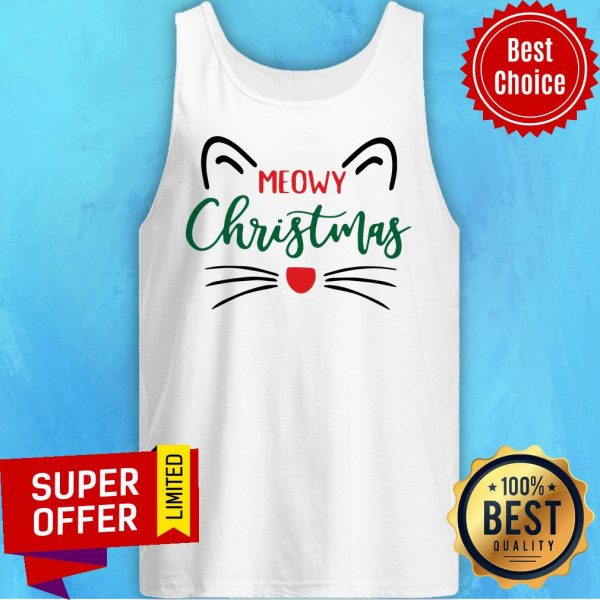 Official Meowy Christmas Tank Top