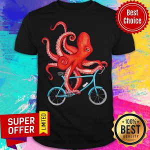 Official Octopus Riding Bicycle Shirt