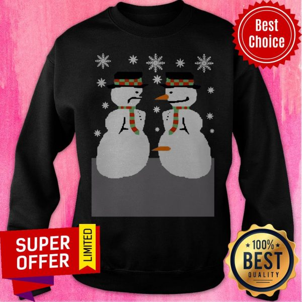 Official Snowman Nose Thief Ugly Christmas Sweatshirt