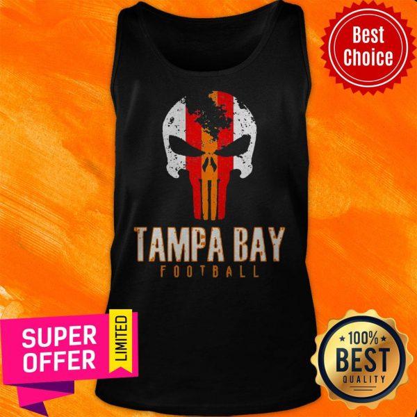 Official Tampa Bay Varsity Style Retro Football Skull Tank Top