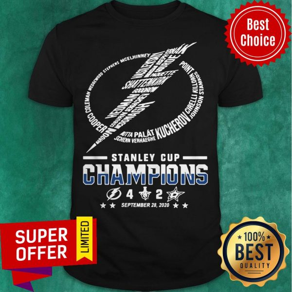 Top Stanley Cup Champions 4 2 September 28 2020 Shirt