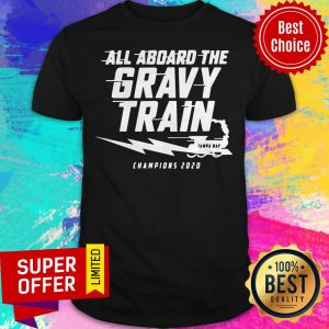 Top All Aboard The Gravy Train Tampa Bay Champions 2020 Shirt
