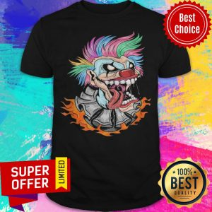 Awesome Scary Clown Halloween Mad Evil Clown Face Shirt