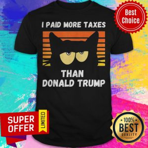 Vintage I Paid More Taxes Than Donald Trump2020 Debate Cat Shirt
