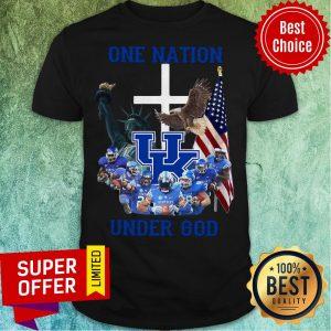 Nice Kentucky Wildcats One Nation Under God Tee Shirt
