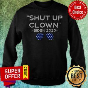 Shut Up Clown Joe Biden Kamala Harris Debate Quote Protest Glass Premium The Holy Trinity Of Nerds Assemble Da Nerds Sweatshirt