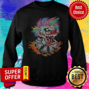 Awesome Scary Clown Halloween Mad Evil Clown Face Sweatshirt