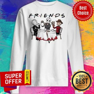 Hellraiser Jason Voorhees Freddy Krueger Friends Halloween Sweatshirt