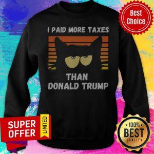 Vintage I Paid More Taxes Than Donald Trump2020 Debate Cat Sweatshirt