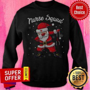 Top Christmas Scrub Tops Dabbing Santa Nurse Sweatshirt