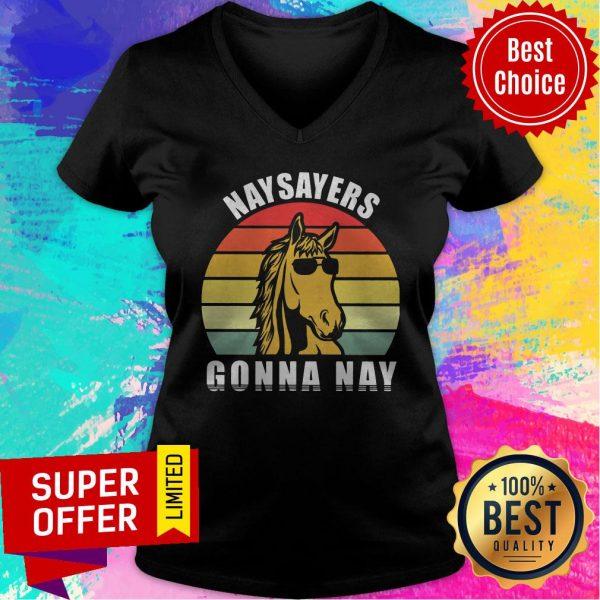 Top Naysayers Gonna Nay Vintage Cool Hours V-neck