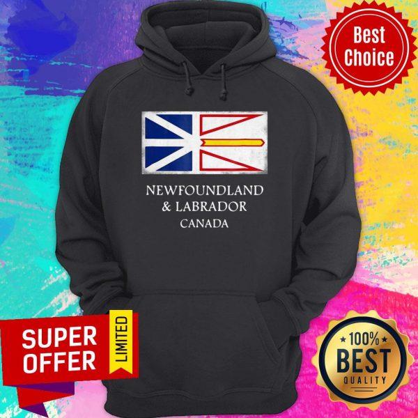 Top Newfoundland And Labrador Canada Flag Hoodie