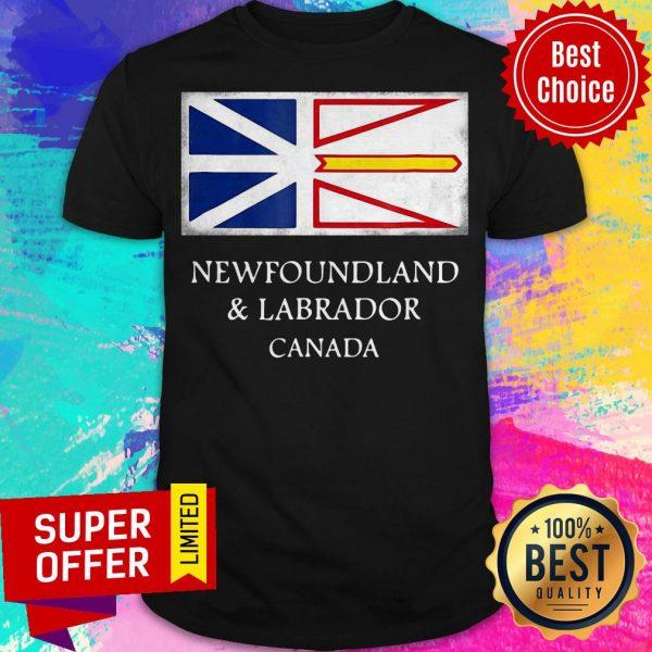 Top Newfoundland And Labrador Canada Flag Shirt