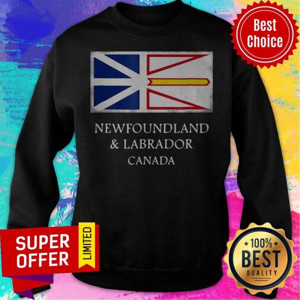 Top Newfoundland And Labrador Canada Flag Sweatshirt