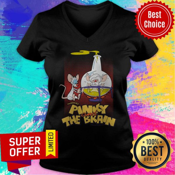 Top Pinky And The Brain Lab Flask V-neck