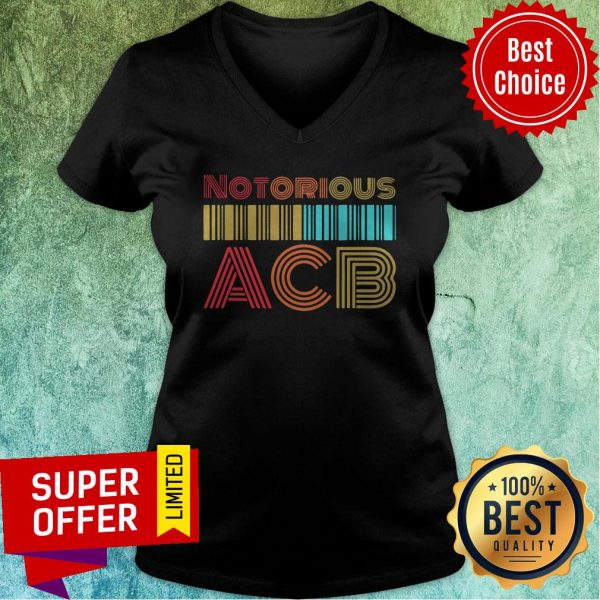 Nice Vintage Retro Amy Coney Barrett Notorious ACB Fill That Seat V-neck