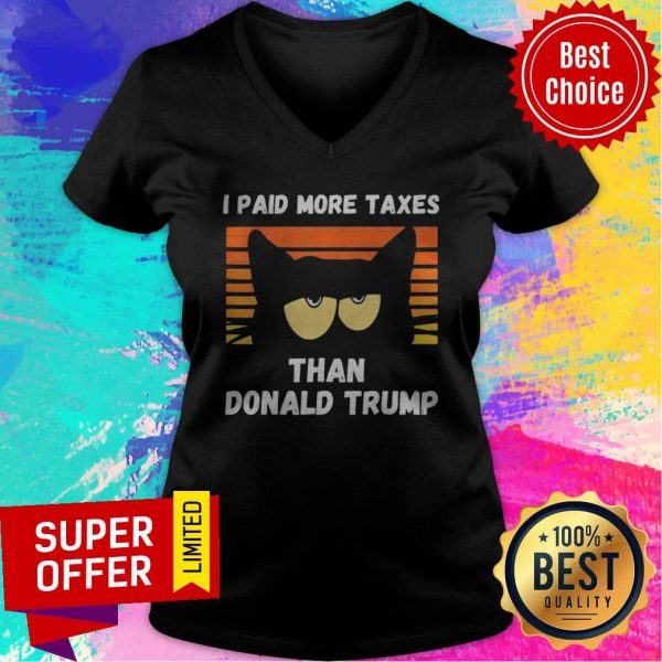 Vintage I Paid More Taxes Than Donald Trump2020 Debate Cat V-neck