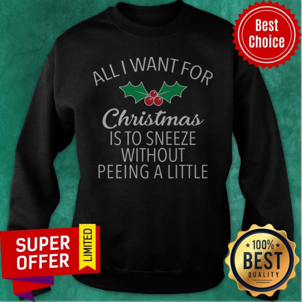 All I Want For Christmas Is To Sneeze Without Peeing A Little Sweatshirt