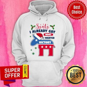 Awesome Joe Biden Santa I Already Got What I Wanted Victory Christmas Hoodie