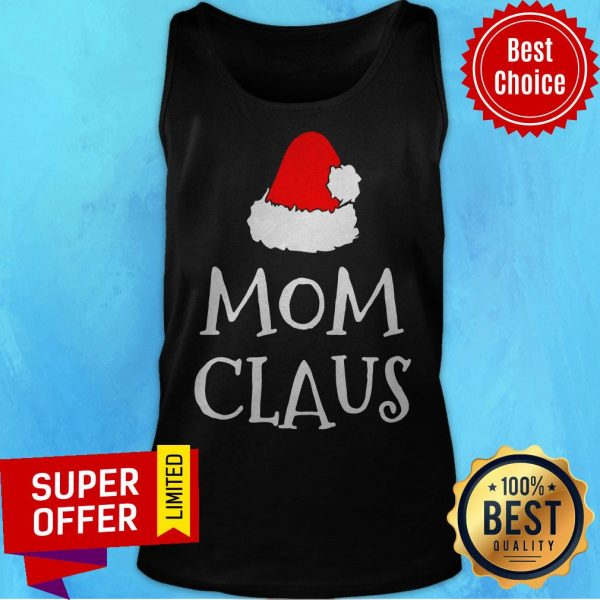 Awesome Mom Claus Christmas Hat Tank Top