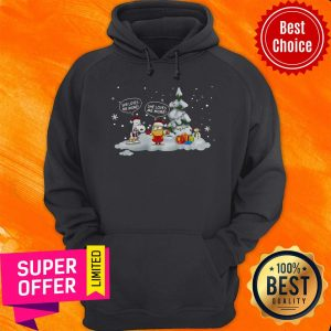 Awesome Snoopy And Minions She Loves Me More Christmas Hoodie