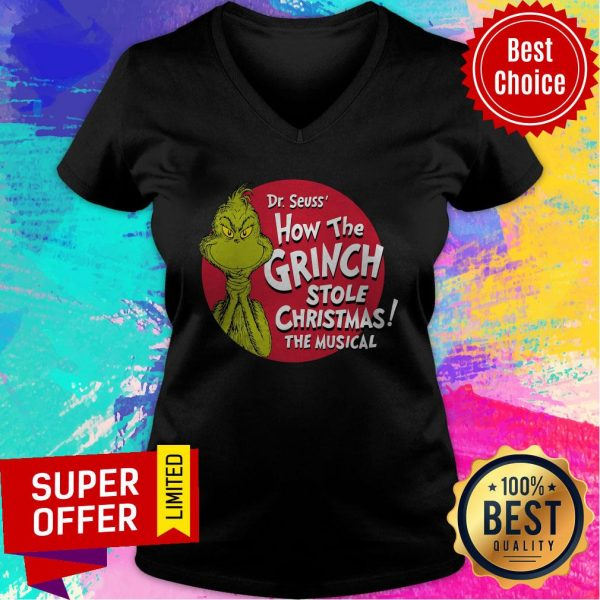 Awesome The Grinch 2020 How The Covid Stole Christmas V-neck