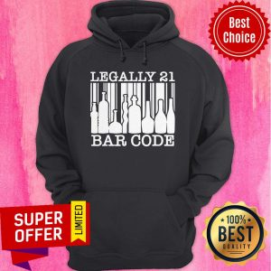 Funny 21st Birthday Boys Girls Cool Legally 21 Barcode Hoodie