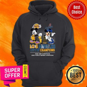 Mickey Mouse Los Angeles City Of Champions 2020 NBA Champions 2020 World Series Champions Hoodie